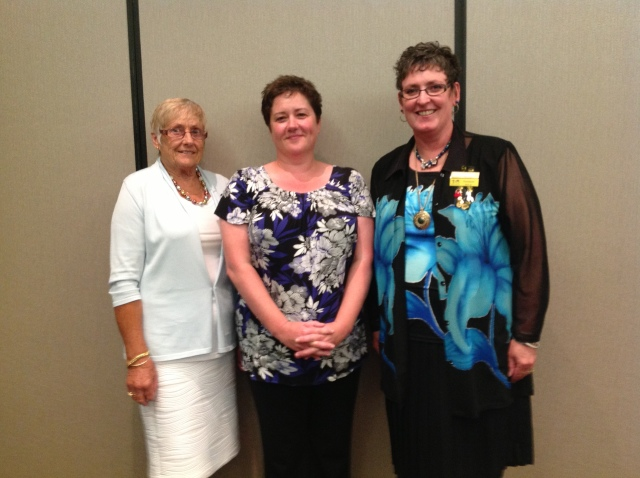 Diane Dean, Award Winner Jane Wallwork and BPW NZ President Carolyn Savage