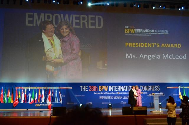 President's Award for Angela McLeod