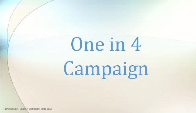 One in 4 Campaign picture